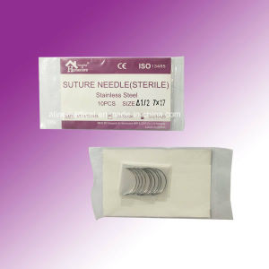 Disposable Sterilized Surgical Suture Needle (MW209A) pictures & photos
