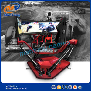 Hottest 3 Screens Vr Racing Car with 6 Dof Electric Motion Platform pictures & photos