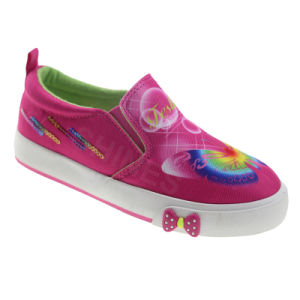 Butterfly Slip on Canvas for Girl′s Vulcanized Shoe