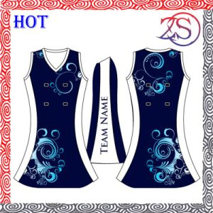 Ozeason Durable Digital Print Latest Design Netball Dress pictures & photos