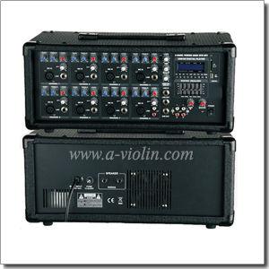 8 Channel Treble Bass XLR PA Mobile Power Amplifier (APM-0830BU) pictures & photos