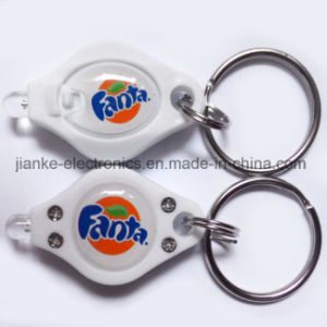 Hot Seller LED Light up Key Torch with Logo Printed (3032)