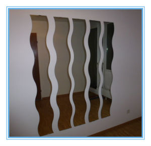 High Quality Wave Shape Silver Mirror for Wall Decoration in Customer Size pictures & photos