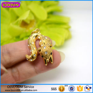High Quality Diamond Jewelry Mini Fox Charm with Gold Plated pictures & photos