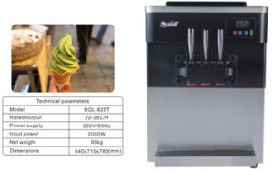 Hot China Products Wholesale Factory Price 2+1mixed Flavours Ice Cream Making Machine (BQL825T) pictures & photos