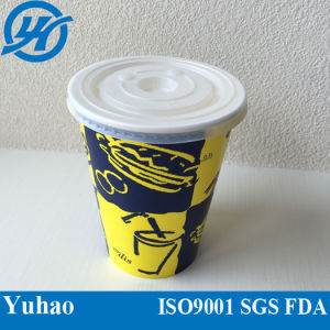 Disposable Coffee Paper Cup, Double Wall Coffee Paper Cup with Lid pictures & photos