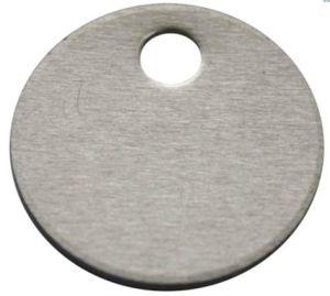 """1""""Dia Round Blank Aluminum Tag (20Y560)"""