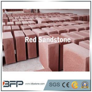 High Polished/ Honed/ Bush Hammered Natural Red Sandstone Slabs/ Tiles pictures & photos