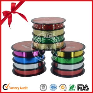 Decorating Glitter Printed Plastic Curly Ribbon pictures & photos