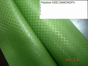 PU Coated Polyester 420d Diamond for Bags! pictures & photos