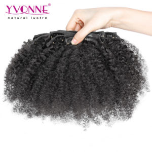 Brazilian Curly Clip in Hair Extensions pictures & photos