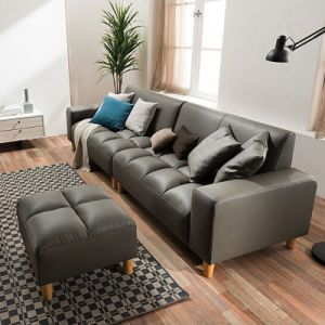Chinese Home Furniture Wooden Leather Sofa pictures & photos