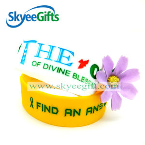 100% Eco-Friendly Silicone Wristband Debossed with Color pictures & photos