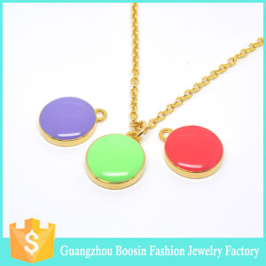 Personalized Sealife Initial Gold Pastel Enamel Disc Necklace for Girls pictures & photos