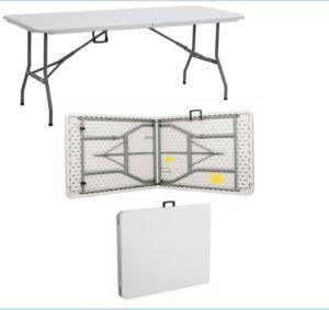 Portable Plastic Folding Banquet Rectangular Cheapest Table pictures & photos