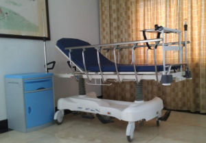 Sjm004-a Luxurious Hydraulic Rise-and-Fall Stretcher Cart pictures & photos
