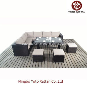 Steel Rattan Table Sofa Set (1104) pictures & photos