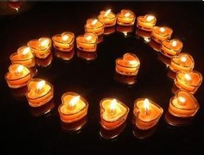 Heart-Shaped Soy Wax / Paraffin Wax Candle for Wedding and Birthday Decoration pictures & photos