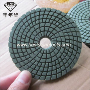 "Wd-3 Stone Diamond Flexible Wet Polishing Pad 4""/100mm pictures & photos"