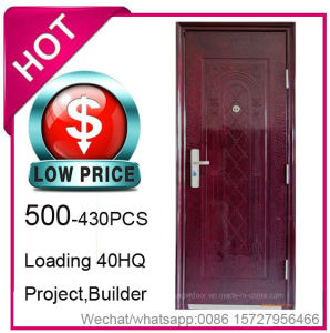 Low Price, Economy Cheap Steel Security Door for Project Building (EF-S065) pictures & photos