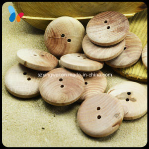 Two Holes High End Nature Round Wood Clothes Button pictures & photos