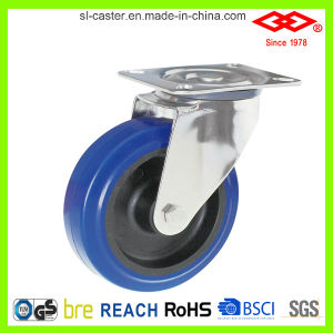 200mm Swivel Plate Elastic Rubber Caster (P104-23D200X50) pictures & photos