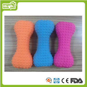 Bone Shape Latex Colorful Dog Toy (HN-PT435) pictures & photos