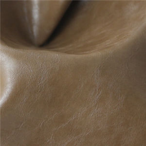 Colorful Oil Waxy Synthetic Leather Upholstery for Furniture Industry (498#) pictures & photos
