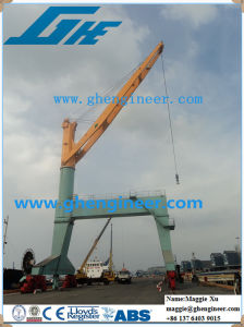 30t20m Port Jetty Travelling Cargo Crane pictures & photos