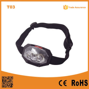 T03 AAA Plastic Camping Outdoor LED Headlamp pictures & photos