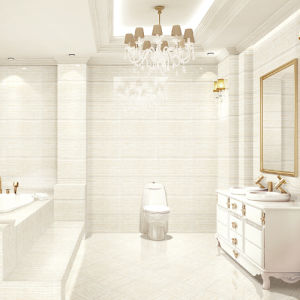 White Wooden Line Stone Polished Porcelain Tile pictures & photos