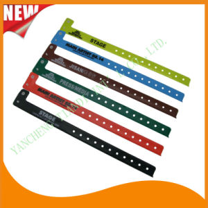 High Quality Entertainment ID Bracelets Vinyl Festival Evens Wristbands (E60703) pictures & photos