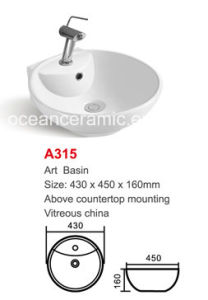 Oval Ceramic Washing Art Basin No. A315 pictures & photos