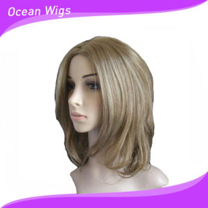 Populor Blond Hair Wig Synthetic Women Wig pictures & photos