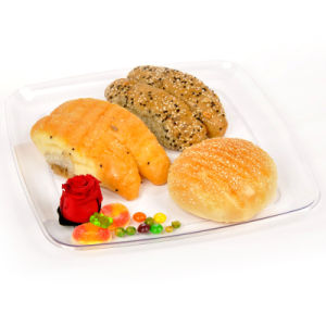 Plastic Plate Disposable Tray 30cm Rounded Square Tray pictures & photos