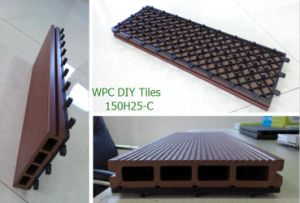 New Design Tiles 150*25mm Decking Board Free Assemble WPC Tiles pictures & photos