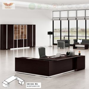 Fsc Forest Certified New Fashion Design Office Executive Melamine Office Desk with L Shape Return (H80-0161) pictures & photos