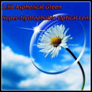 1.56 Aspherical Green Super-Hydrophobic Optical Lens