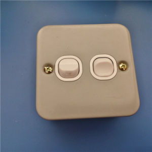 UK Style Metal Material Double Wall Switch (W-074) pictures & photos