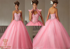 Handmade Beading Prom Tutu, Tailored Princess Big Ball Dress pictures & photos