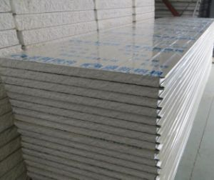 Polyurethane Foam EPS Sandwich Panel/Board for Steel Structural Houses pictures & photos