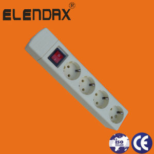 4 Way European Extension Socket and Switch with Standard Grounding (E9004ES) pictures & photos