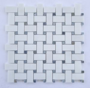 Marble Mosaic Basketweave Tile pictures & photos