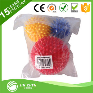 PVC Hand Spiky Massage Ball, 6cm 8cm 10cm a Set Hard Spiky Massage Ball