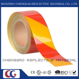 Advertisement Grade Warning Safety Caution Stripe Adhesive Reflective Sheeting pictures & photos
