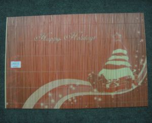 (BC-M1022) Handmade Natural Bamboo Rectangle Heat Insulation Mat pictures & photos