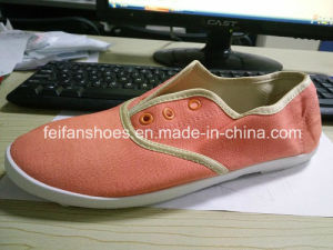 Cheap Lady Casual Shoes Injection Canvas Shoes Stock (FF329-9) pictures & photos