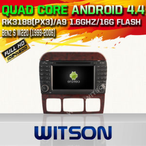 Witson Android 4.4 Car DVD for Benz S W220 with Chipset 1080P 8g ROM WiFi 3G Internet DVR Support (W2-A6518) pictures & photos