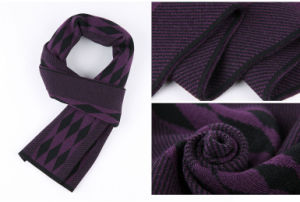 Men′s Fashion Wool Knitted Winter Warm Long Scarf (YKY4608) pictures & photos