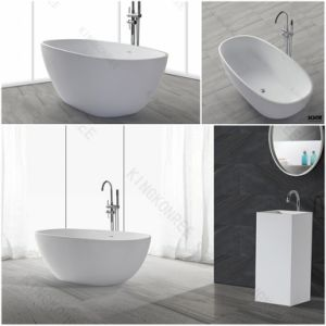 Bathroom Furniture Corian Solid Surface Free Standing Bathtub pictures & photos
